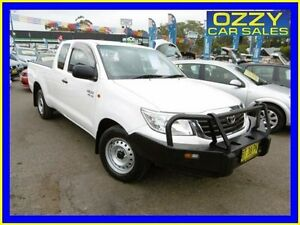 2013 Toyota Hilux GGN15R MY12 SR Glacier White 5 Speed Automatic Extracab Penrith Penrith Area Preview