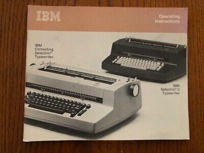 Ibm Selectric Ii Part Operaters Manual 1206423 Hard To Find Pristine Condition