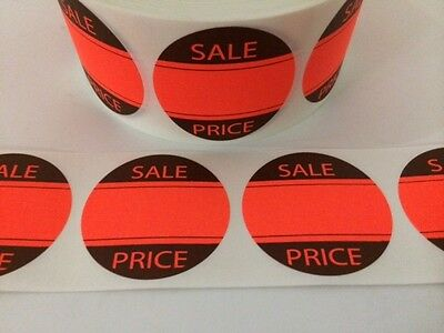250 2 Sale Price Red Neon Stickers Labels Stickers New Sale Price Labels New