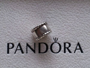 "AUTHENTIC GENUINE PANDORA SILVER ""BEVELLED"" CLIP - LIKE NEW COND"