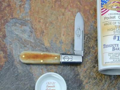 GREAT EASTERN GEC TIDIOUTE SMOOTH AUTUMN GOLD BONE BARLOW KNIFE RARE MIT 152121