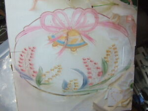 "Large 14"" Mikasa Wedding Bells & Floral Glass platter,0417"