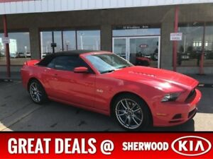 2014 Ford Mustang GT CONVERTIBLE Accident Free,  Leather,  Back-