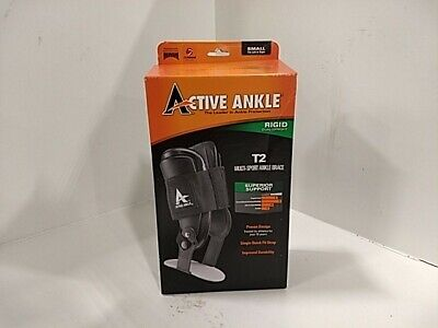 Active Ankle T2 Rigid Multi-Sport Ankle Brace, Black, Small