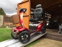 Huge 30 Stone Capacity Shoprider Cordoba Mobility Scooter Any Terrain Road Legal AntiTheft Alarm