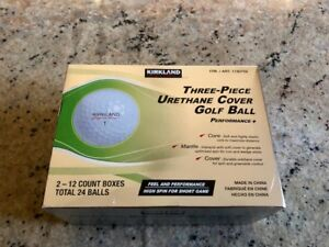 BRAND NEW KIRKLAND (COSTCO) SIGNATURE GOLF BALLS - 1 DZN SEALED