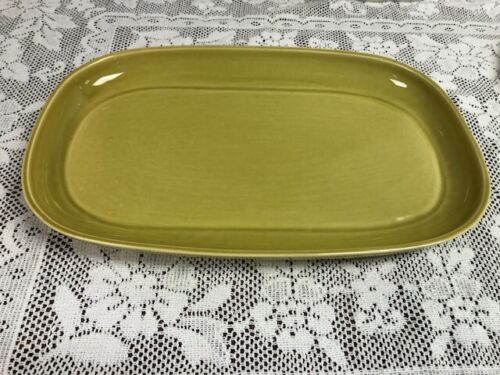 Russell Wright Steubenville American Modern Chartreuse Oval Serving Platter 13""