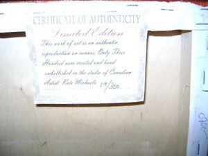 BEAUTIFUL ART PIECE NUMBERED WITH PAPER OF AUTHENTICITY Sarnia Sarnia Area image 2