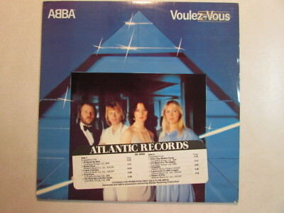 ABBA VOULEZ-VOUZ 1979 GOLD STAMP WHITE STICKER PROMO LP 1st EDITION NEVER PLAYED