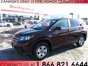 2013 Honda CR-V LX ALL WHEEL DRIVE | 1 OWNER | ACCIDENT FREE |