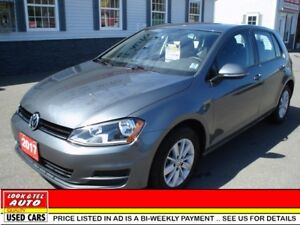 2017 Volkswagen Golf 1.8T $19695 financed price - 0 down payment