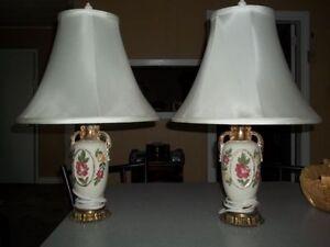 2 lampes antique 1949 or older  *** New Price, Prix réduit ***
