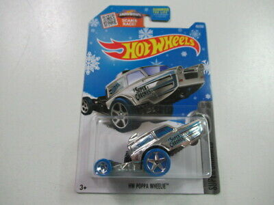 2016 HW Poppa Wheelie #43 Hot Wheels Die Cast Car Super Chromes 8/10 Target Exc.