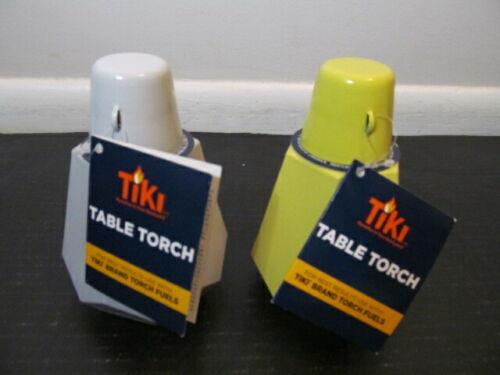 Tiki Table Torch Royale, White or Yellow