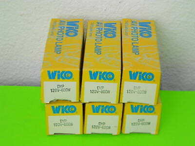 6x New Wiko Avphoto Lamp Dyp Projector Light Bulb 600w 120v Lot Of 6