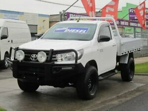 2016 Toyota Hilux GUN126R SR White 6 Speed Manual Cab Chassis Altona North Hobsons Bay Area Preview