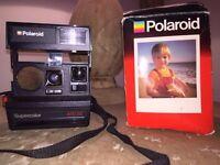 Polaroid Camera Supercolor 670AF Special edition. Original 1970s. With original box.
