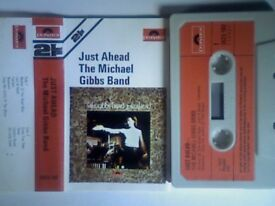 THE MICHAEL GIBBS BAND - JUST AHEAD PRERECORDED CASSETTE TAPES. 3523 102 . 1972. NOW ULTRA-RARITY.
