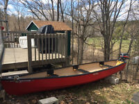 15 foot Square Back Canoe