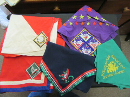 Boy Scout International Scarf Neckerchief Lot of 5     fx2  #1