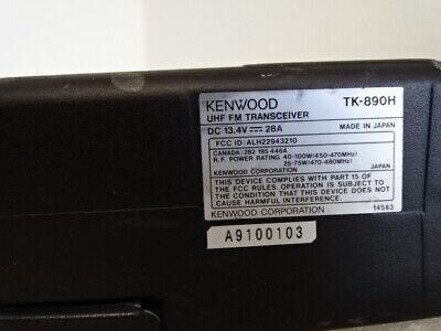 Kenwood Tk-890h Mobile Rear Remote Mount Ham Radio Uhf