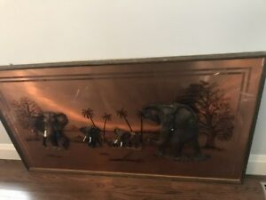 Unique Wall Art: Copper Elephants from Italy