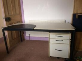 Ikea Desk with lockable drawers
