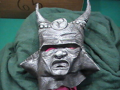 Orc Halloween Masks (Scary Black Orc Org Horn Horned Soldier Halloween Adult Costume Mask)