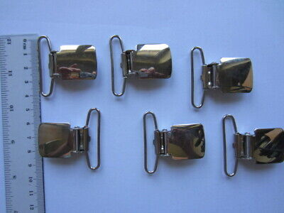 20 Clips Hosenträger clips Gothic Silber Deckenbeschwerer   neu