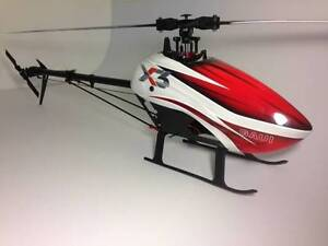 Gaui X3 RC Helicopter - Full Setup w 6 Batteries & Many Spares Melville Melville Area Preview