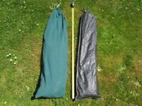 Changing / Toilet Tent including toilet cassette and 4.5 Kg Butane Gas Bottle