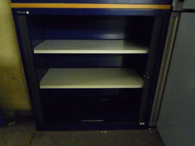 High spec Bisley 1m high tambour unit with key