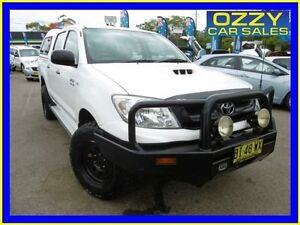 2011 Toyota Hilux KUN26R MY11 Upgrade SR (4x4) White 4 Speed Automatic Dual Cab Pick-up Penrith Penrith Area Preview