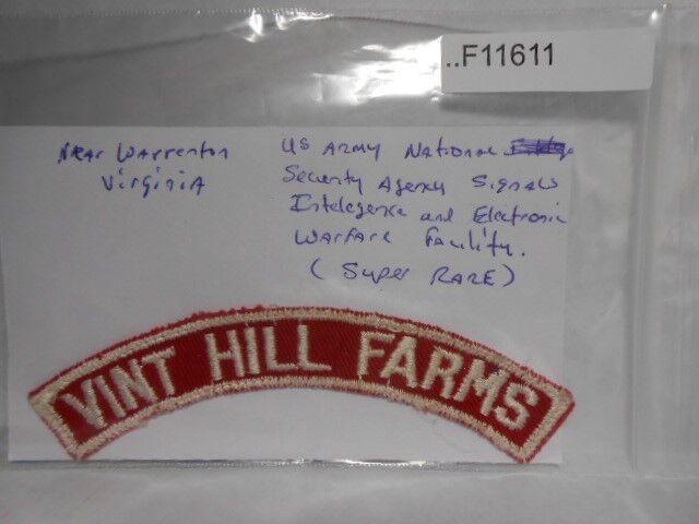 VINT HILL FARMS STRIP RED & WHITE  INTELEGENCE STATION (V.A.) VERY RARE F11611