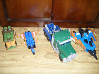 4 collectible Transformers for sale