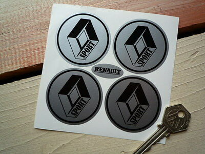 RENAULT SPORT Wheel Centre Style CAR STICKERS 5 Gti Turbo Megane Clio Rally Race