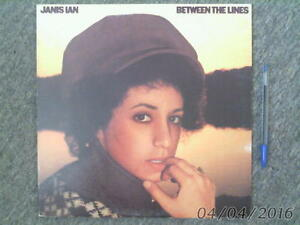 vintage VINYL LP-BETWEEN the LINES-Janis Ian 1975