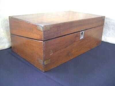 Victorian Writing Slope/ Box With Working Lock And Key ~ needs some work