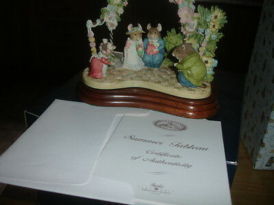 BORDER FINE ARTS BRAMBLY HEDGE  LIMITED EDITION SUMMER TABLEAU      MADE IN UK