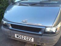 ford tranist TOURNEO minibus spares or repairs. intermittent starting problem.