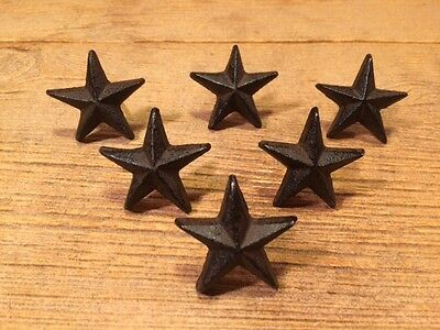 "Texas Star Nails Small Cast Iron Western 2"" wide (Set of 6) 0170-02111"