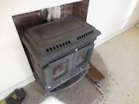 11kw log stove with back boiler