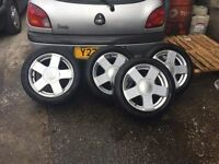 SET OF FORD FIESTA WHEELS & TYRES 15""