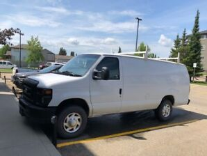 2012 FORD E250 EXT CARGO VAN INCLUDED ROOF RACK & SHELVING