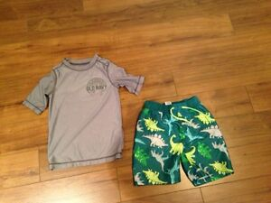 Boy's 2 piece bathing suit size 4