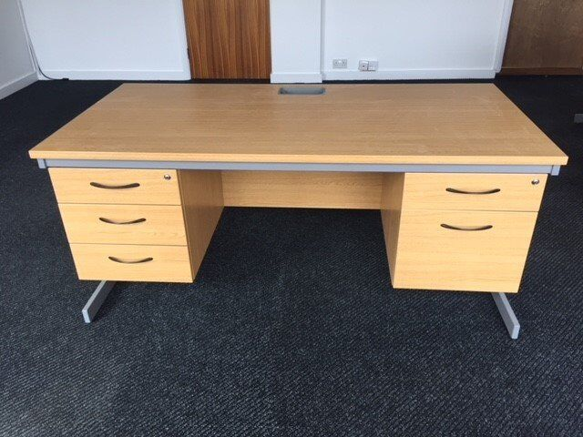 Office Desk Double Pedestal Good Condition Open To Offers