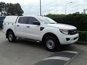 2012 Ford Ranger PX XL Double Cab 4x2 Hi-Rider White 6 Speed Sports Automatic Utility Acacia Ridge Brisbane South West Preview