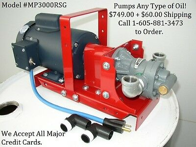 New Portable Wasteused Oil Pump For Heatersburnerfurnacebiodieselwvo12 Gpm