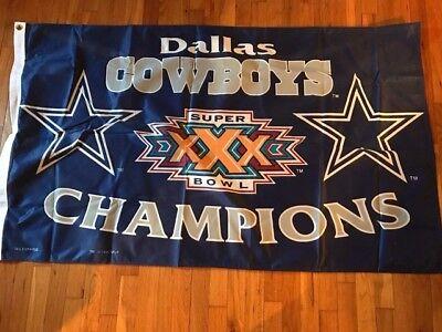 Dallas Cowboys Super Bowl XXX Champions Flag