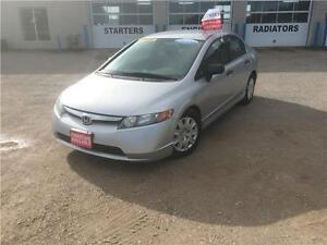 2007 Honda Civic Sdn DX Certified $5995+Hst&Lic